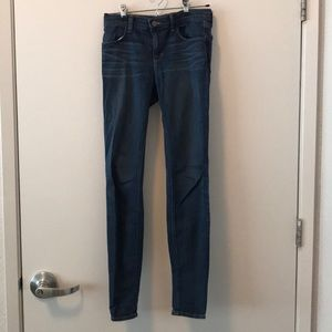 J Brand Classic Blue Denim Skinny Jeans Mid-rise